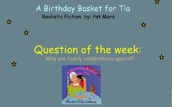 Reading Street Unit 6 Week 3: A Birthday Basket for Tia