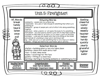 Reading Street  Unit Five Resources Grade 2