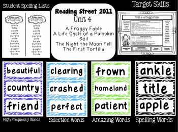 Reading Street  Unit Four Resources Grade 2