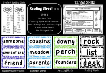 Reading Street  Unit One Resources Grade 2
