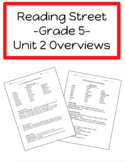 Reading Street Unit 2 Overviews (Gr. 5)