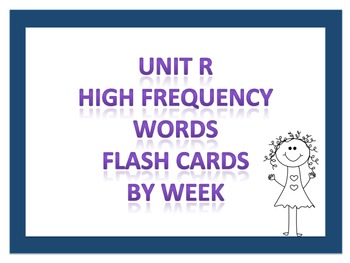 Reading Street Unit R HFW Flash Cards - First Grade