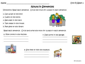 Reading Street Unit R Language Practice Sheets