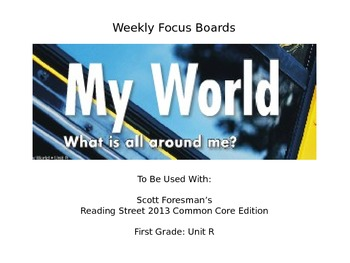Reading Street Unit R Student Focus Boards