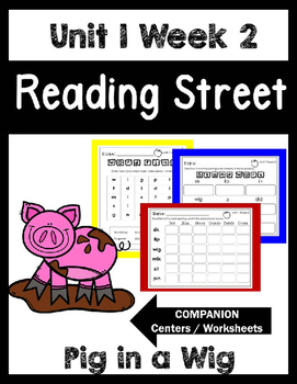 Reading Street. Unit 1 Week 2. Pig in a Wig. Centers/Focus Wall/Handwriting