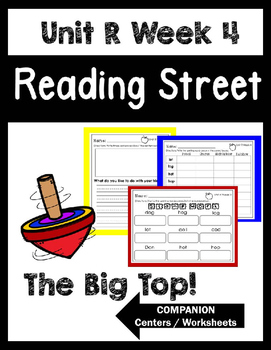 Reading Street. Unit R Week 4. The Big Top! Centers/Focus