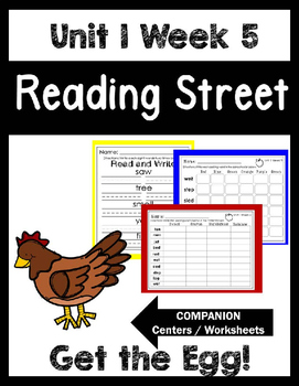 Reading Street. Unit 1 Week 5. Get the Egg! Centers/Focus Wall/Handwriting