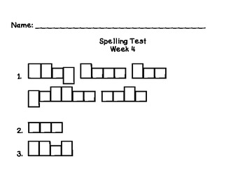 Reading Street Unit R Weekly Spelling Test Template