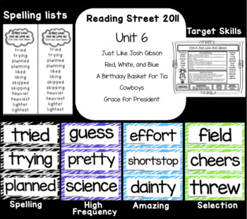 Reading Street  Unit Six Resources Grade 2
