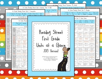Reading Street Units at a Glance - 1st Grade,  2013