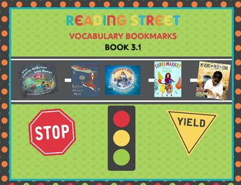 Reading Street Vocabulary Bookmarks for Grade 3