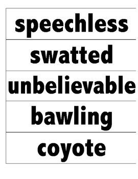 Reading Street Vocabulary Cards- 4th Grade Unit 1