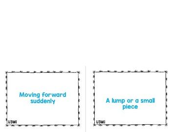 Reading Street Vocabulary Cards 6th Grade Unit 1