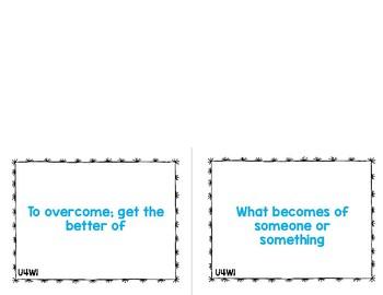 Reading Street Vocabulary Cards 6th Grade Unit 4