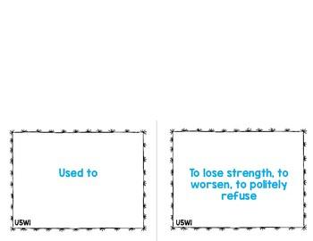 Reading Street Vocabulary Cards 6th Grade Unit 5
