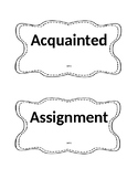 Reading Street Vocabulary Cards Unit 1