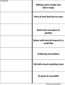 Vocabulary Flipbook