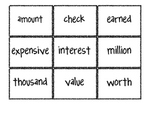 Reading Street Vocabulary Matching Game- Theme 1 If You Ma