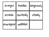 Reading Street Vocabulary Matching Game- Theme 1 My Rows a