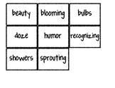 Reading Street Vocabulary Matching Game- Theme 3 Bundle- A
