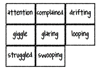 Reading Street Vocabulary Matching Game- Theme 4 Bundle- All 5 Weeks!