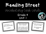 Reading Street Vocabulary Task Cards Grade 4 Unit 1