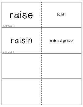 Reading Street Vocabulary Unit 3