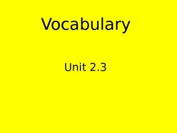Reading Street Vocabulary flipchart 2.3 Who Works Here
