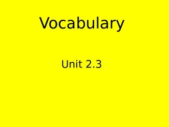 Reading Street Vocabulary flipchart 2.3 Who Works Here