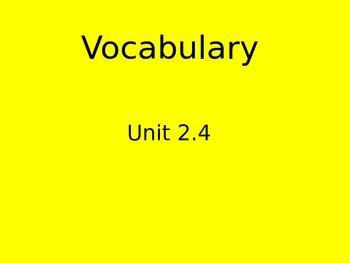 Reading Street Vocabulary flipchart 2.4 The Big Circle