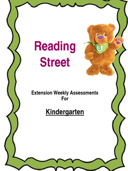 Reading Street: Weekly Assessments **Editable**