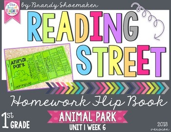 Reading Street Weekly Homework Flip Book: Animal Park
