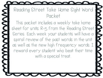 Reading Street Weekly Sight Word Practice