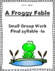 Reading Street Weekly Work Unit 4 Week 1 A Froggy Fable