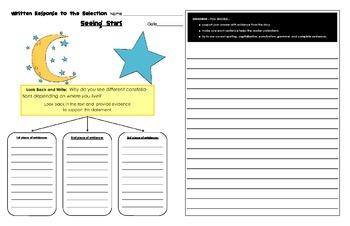 Reading Street Common Core 2013-Written Response Organizers & Tests-Unit 3