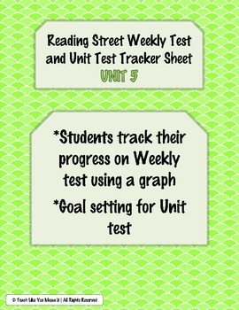 Reading Street Weekly and Unit Test Tracking Sheets- UNIT 5