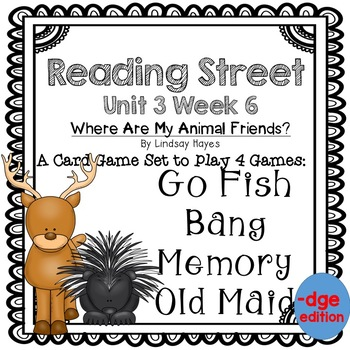 Reading Street: Where Are My Animal Friends? 4-in-1 Spelling/HFW Game -dge
