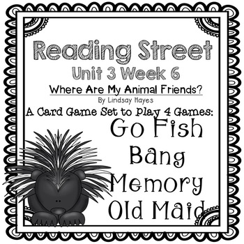Reading Street: Where Are My Animal Friends?4-in-1 Spelling and HFW Games