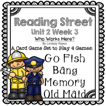 Reading Street: Who Works Here? 4-in-1 Spelling and HFW Games