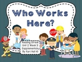 Reading Street Who Works Here? Unit 2 Week 3 Differentiated Resources 1st grade