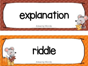 """Reading Street Word Cards FREEBIE  """"Dot & Jabber and the Great Acorn Mystery"""""""