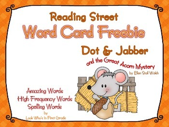 """Reading Street Word Cards FREEBIE  """"Dot & Jabber and the G"""