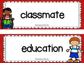 "Reading Street  Word Cards FREEBIE  ""School Day"""
