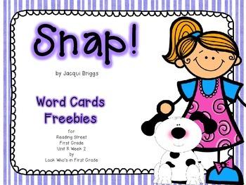 "Reading Street  Word Cards FREEBIE  ""Snap"""