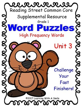 Reading Street Word Puzzles: High-Frequency Challenge Unit 3