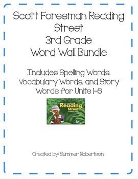 Reading Street Word Wall Bundle