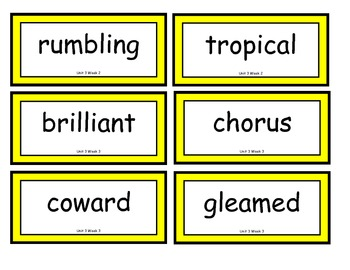 Reading Street Word Wall Cards: Unit 3