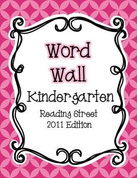 Reading Street Word Wall: Kindergarten {NEON COLORS}