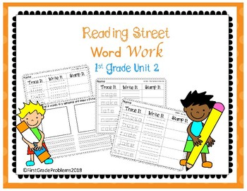 Reading Street Word Work Center- Unit 2 First Grade