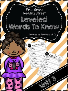 Reading Street Words To Know UNIT 3